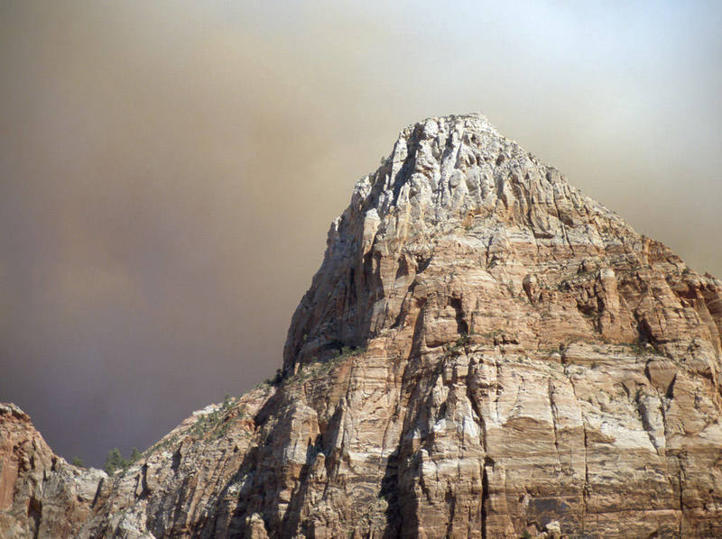 Forest fire in Zion, September of 2004