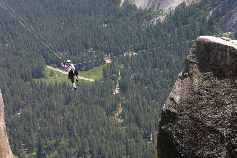 The tyrolean traverse from tip to top