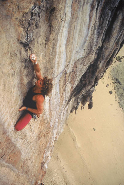 The first ascent of Strider... we dressed like girls back then!