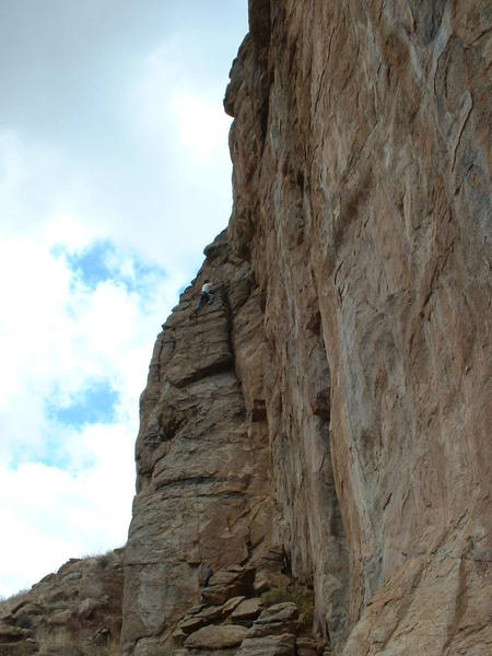 Doug LaFarge aka Nature - Warming up on Sunny Side Up.  His first route at The Sun Spot.