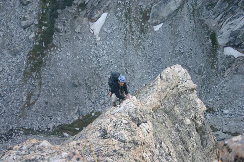 Ridge near the top on Irene's Arete