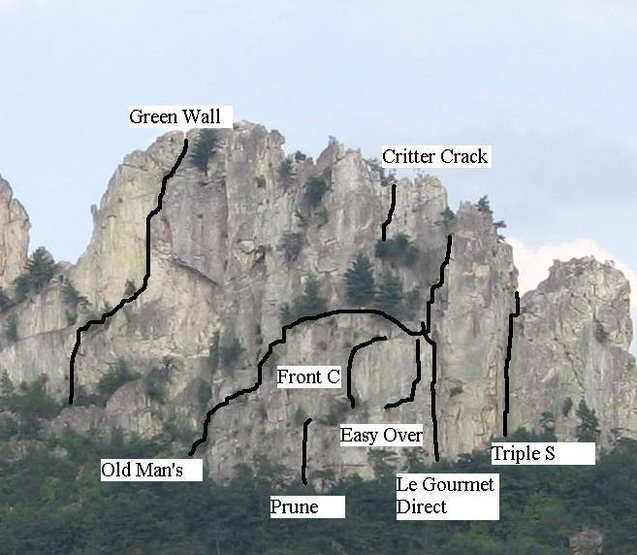 More Routes on the west face of the South Peak