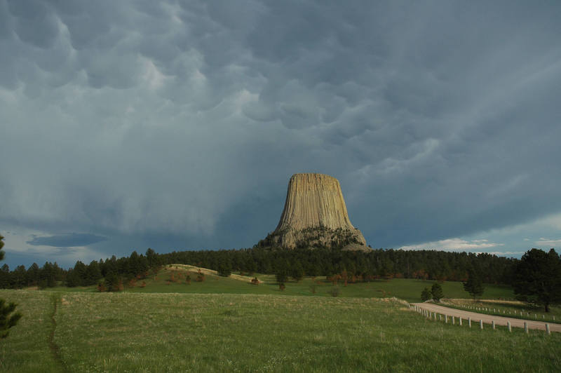Clouds over Devils Tower