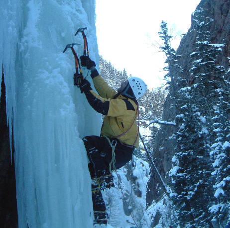 Levi, gettin vertical sans rope!