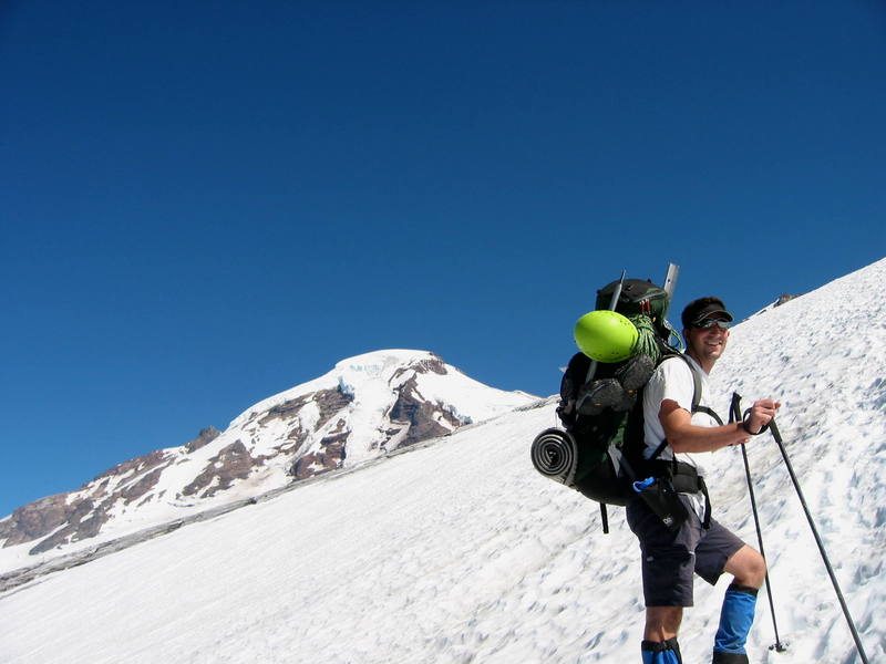 Me on the way to the Mt. Baker high camp.