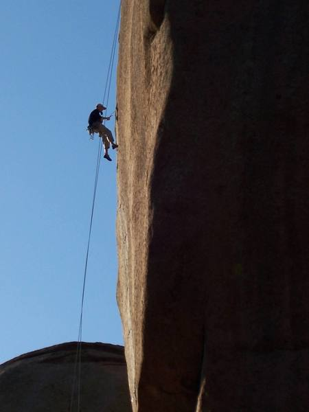 some one working 5.13b, Sphinx Rock