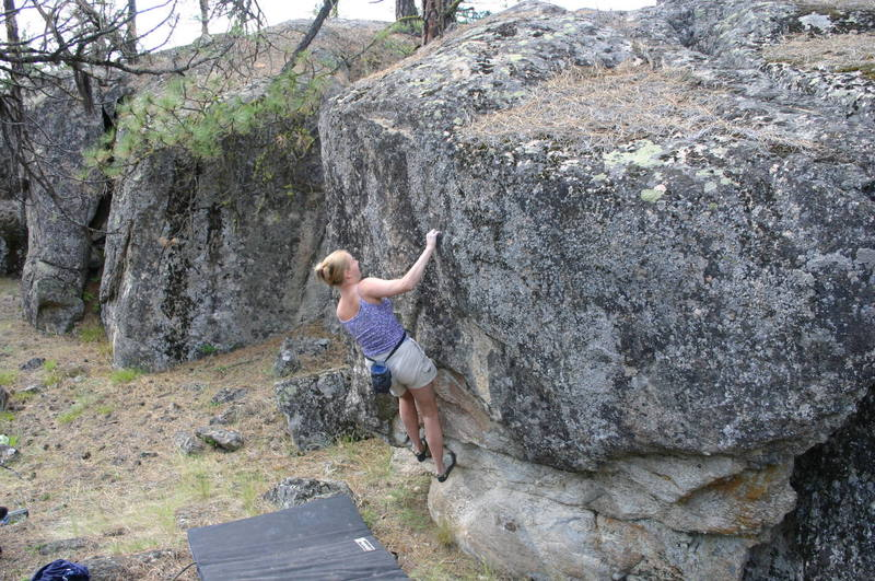 Lia on an unnamed problem near the south parking area.