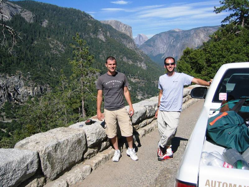 Dan Schuerch and I coming into The Valley.