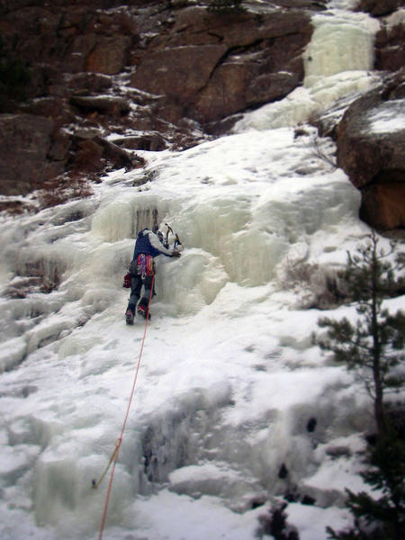 St. Vrain falls, Feburary 17, 2007. Fun, easy lead.