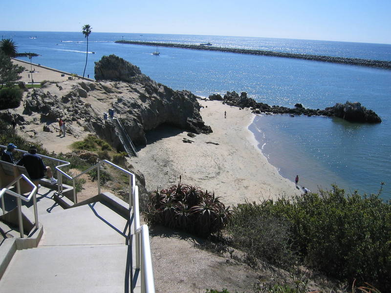 Looking down at Pirate's Cove (Corona Del Mar Beach, AKA The Beach)