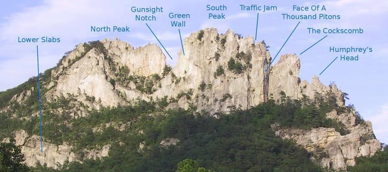 Major Seneca features to aid in locating routes