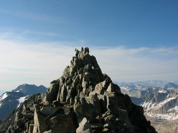 """The summit """"crown"""" of Middle Pal."""