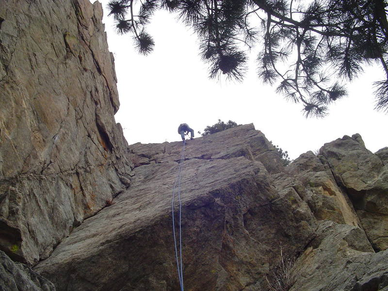 Ryan about to start his rappel. Great route!