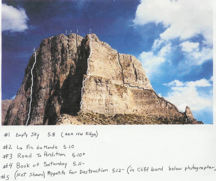 routes on the upper N face