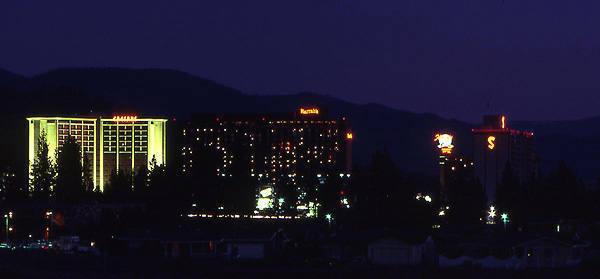 Stateline Casinos, Lake Tahoe, 1980s.<br> Photo by Blitzo.