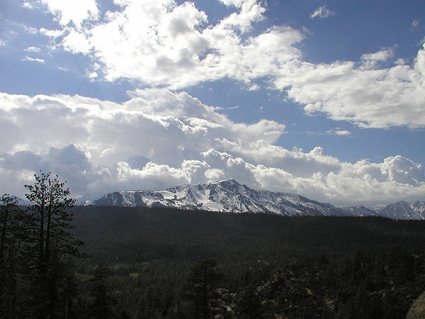 Mt. Tallac from the top of The Pie Shop.<br> Photo by Blitzo.