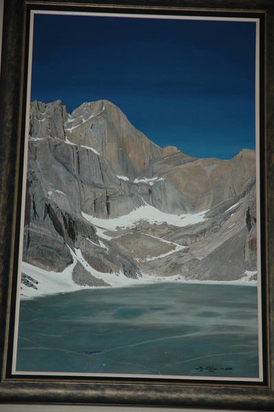 Original oil painting of Chasm Lake and The East Face of Long's. My prize possession!