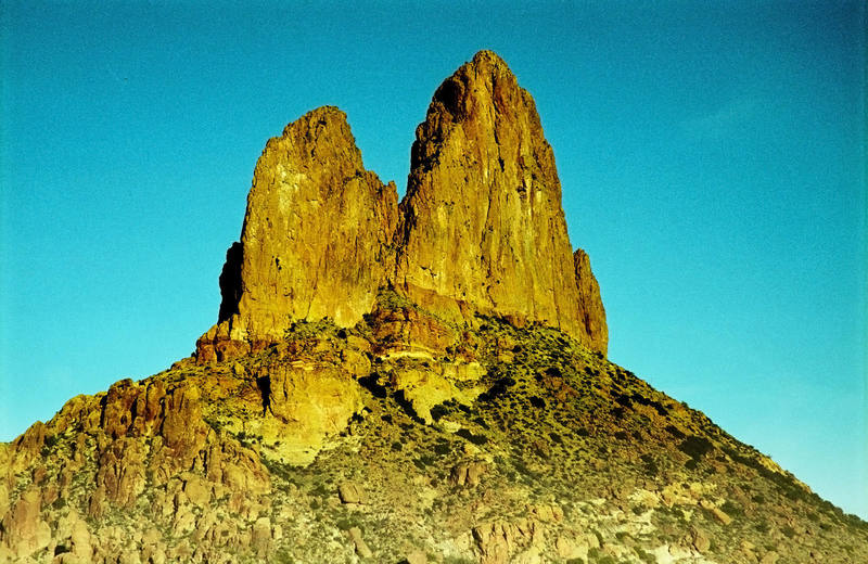 Weavers Needle from the east.