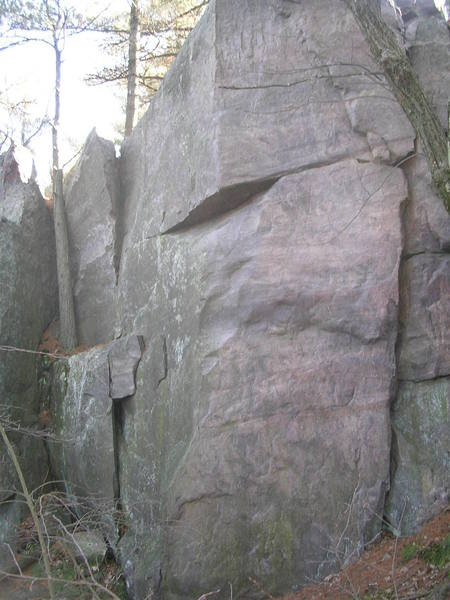 """Sex & Chocolate ascends  using the arete and crimps on the face to dyno to the """"slopey"""" break."""