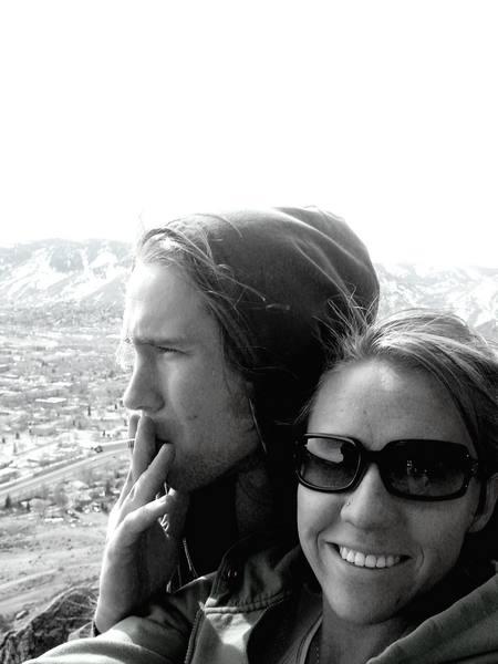 Ethan and I... smoke break, Table Mountain Road, Golden CO