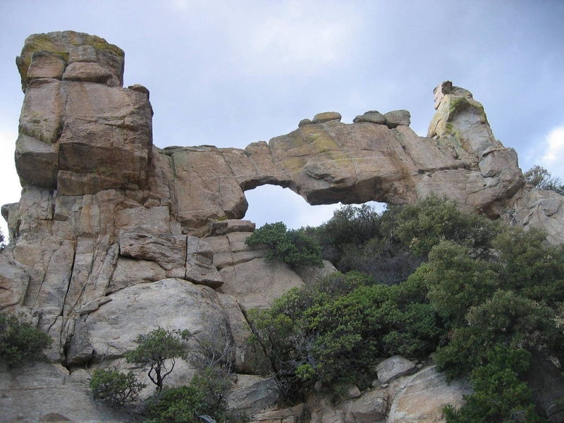 Very cool! Natural bridge just off the road after windy point.