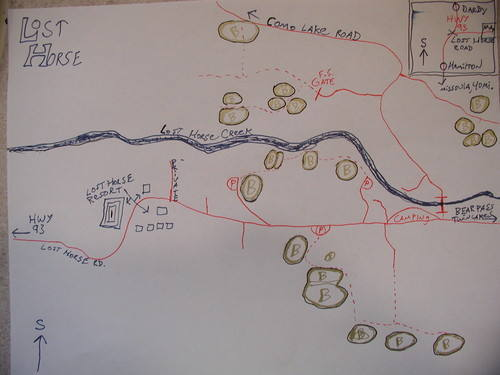 Rough map of area. by corey stelling