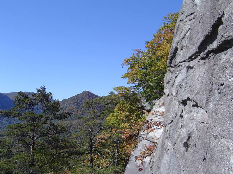 The view from Comatose, 5.8 Rumbling Bald, NC