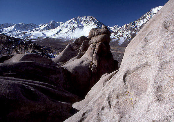 Sierras from the top of the crags.<br> Photo by Blitzo.