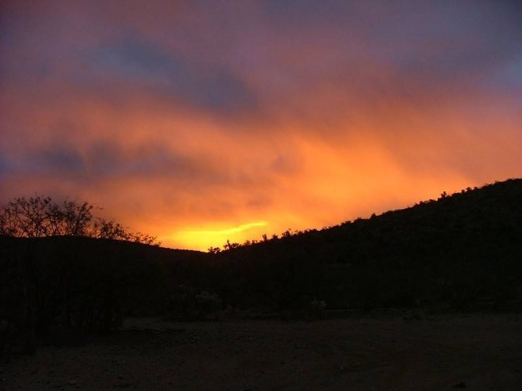 It Stormed all day but what a Sunrise<br> The Homestead