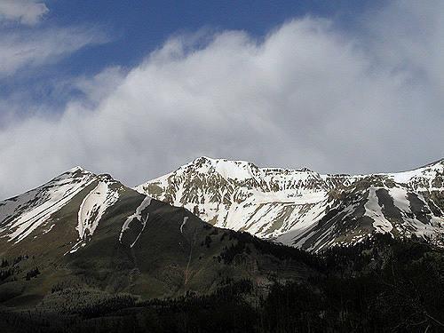 Peaks near Telluride.<br> Photo by Blitzo.