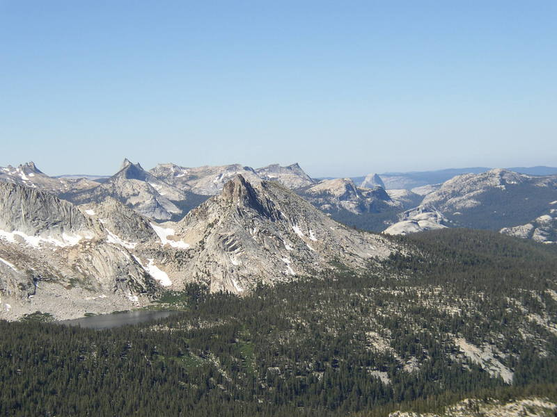 The view reaches The Valley high on the West Ridge of Mt. Conness, Tuolumne Meadows.