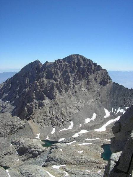Mt. Williamson as seen from the summit of Mt. Tyndall.