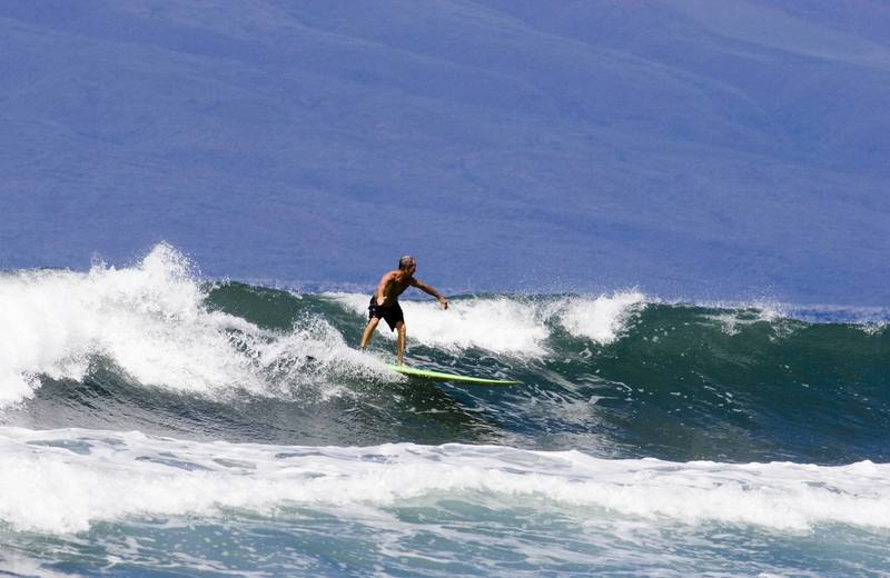 "Woody's is my favorite summer spot,the waves were about head high that day and no one around.  <br> I thought that I would submit a current image as I don't have any new climbing shots.These days,""all I do is surf""<br> Photo:Buzzy Kerbox (2006)"
