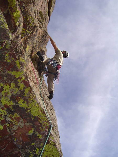 Dave Pearson just after the roof move on pitch 2.