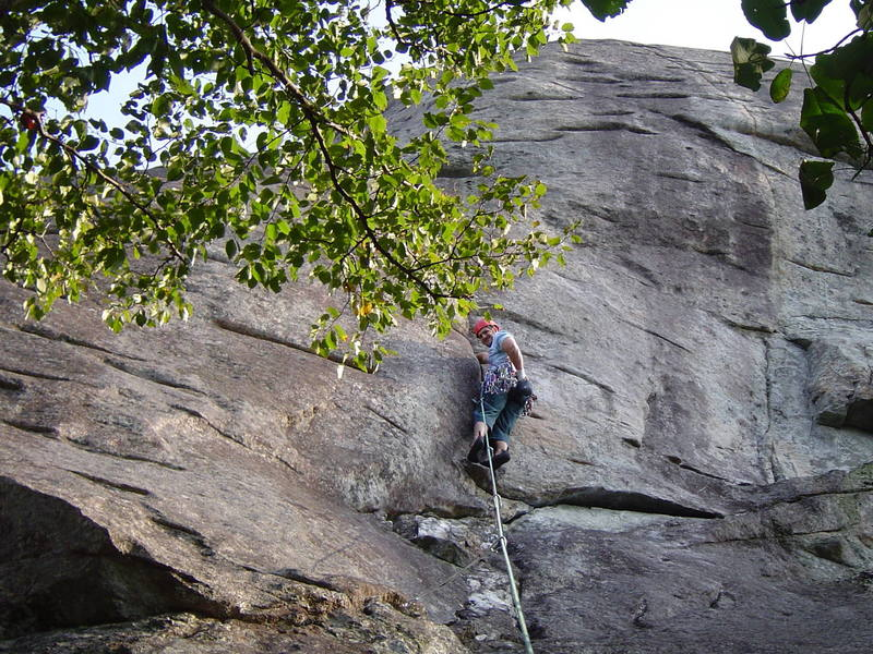 Hanging out just past the crux