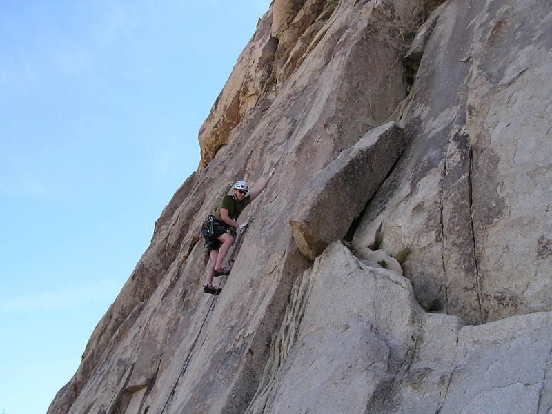 Crux reach on Poodles are People too 5.10b...