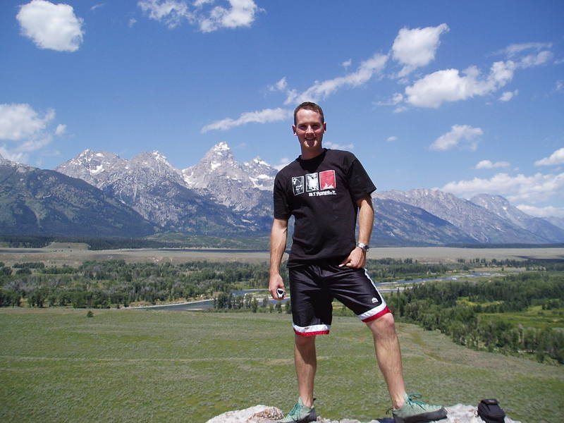 My morning workout before work in Moose, WY in 05.  Bouldering at Black Tail Butte
