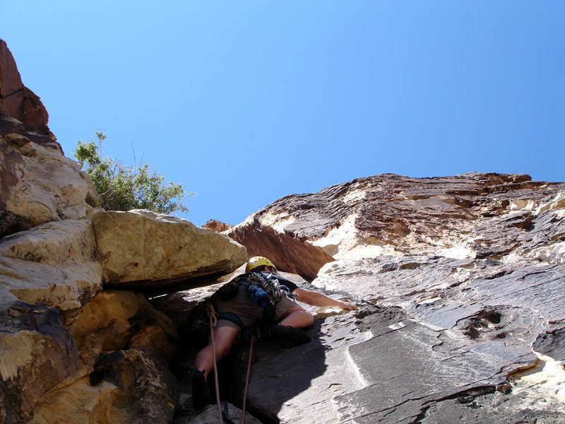 Mike leading pitch 2 of Pauligk Pillar.