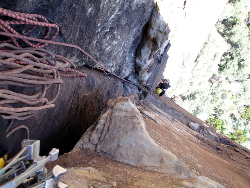 Mike following pitch one of Pauligk Pillar. We both love this climb.