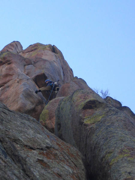 Closing in on the top of pitch 1