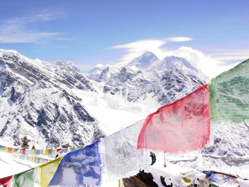 Everest in the distance, Nepal 06