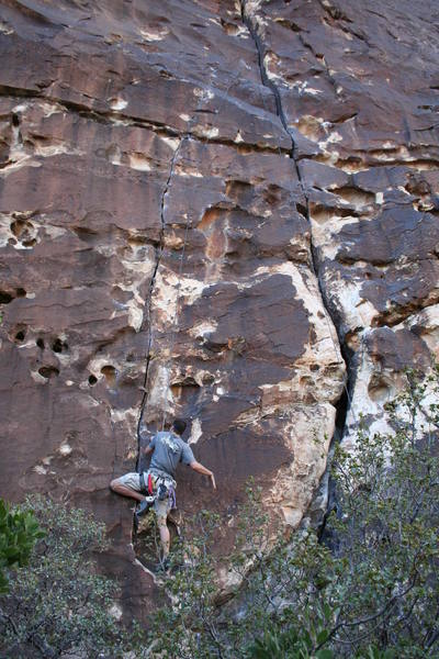 Jared starting up Plan F; this finger crack is as good as it gets; do NOT miss!!