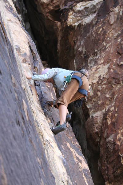 You can face climb OR jam the crack for extra fun and/or practice; Great climb!!
