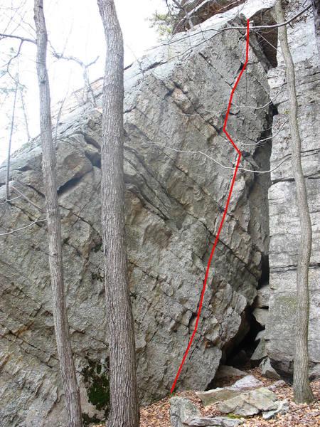 Slant Crack, Big Slab & Compactor Wall, Peterskill, Gunks