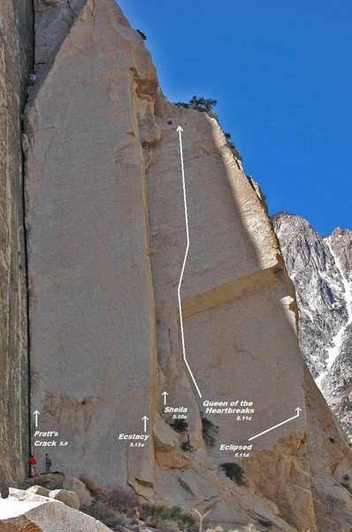 Pratt's Crack area, Ecstasy Buttress, Dihedrals Wall, call it whatever you want, but there's no mistaking it.