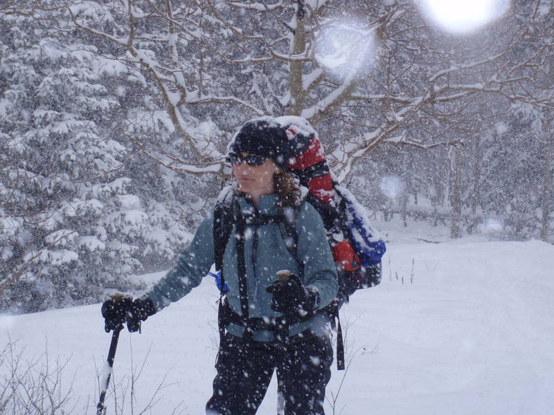 Snowshoeing on Mt. Elbert