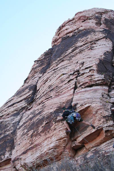 Moving through the crux; FUN moves!