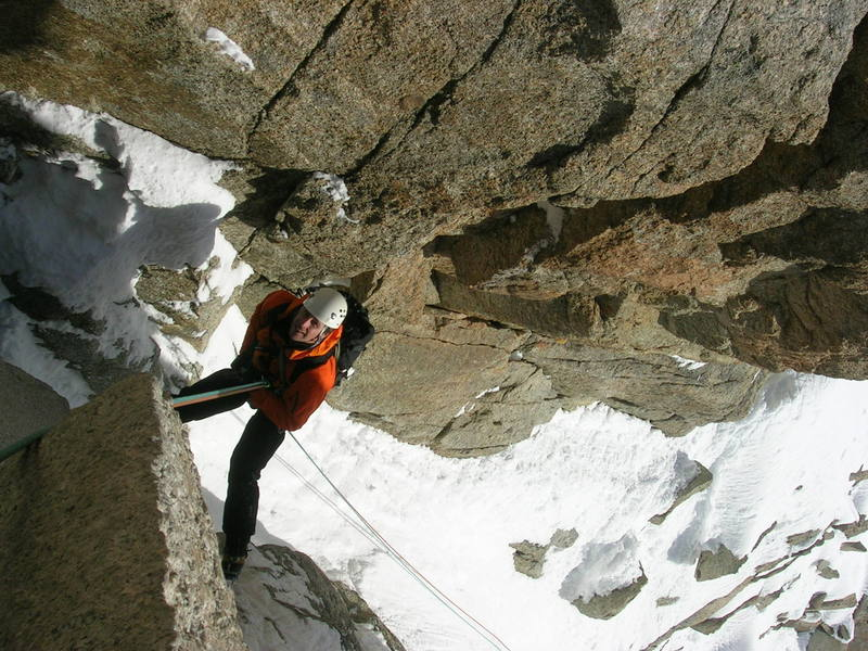 Descending from the towers on the Cosmique Arete