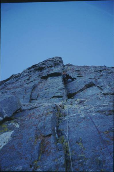 Photo of the first (crux) pitch. Hopefully this helps with routefinding.