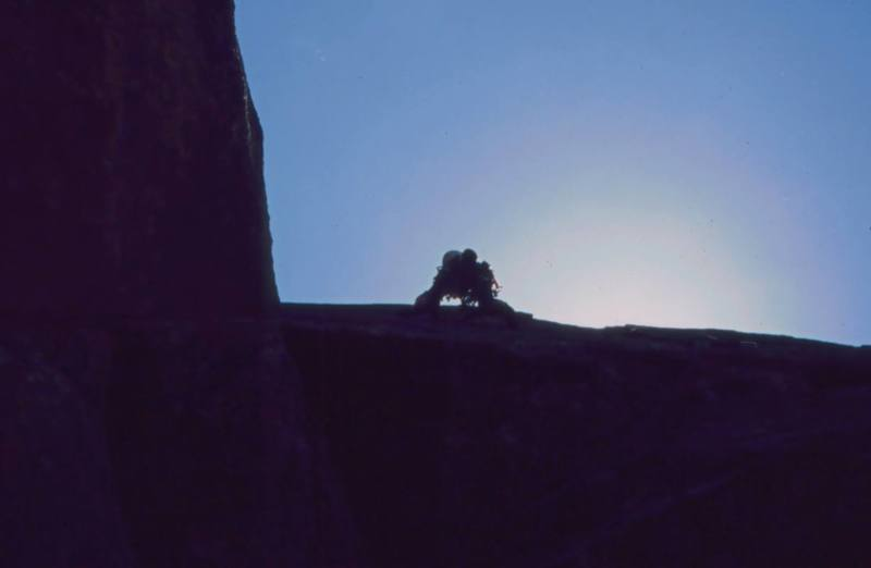 Joseffa Meir leads P3 of 'Over The Hill (10b)' on Eldo's Rincon Wall. Photo by Tony Bubb, 2003.